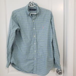 Ralph Lauren men's plaid long sleeve shirt sz M